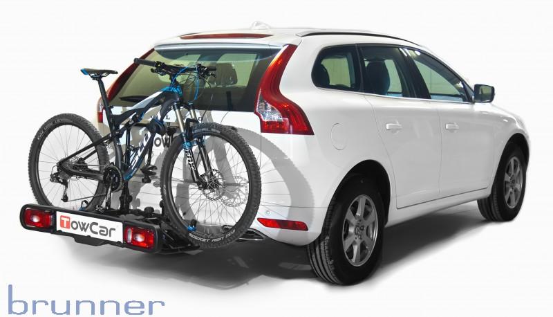 fahrradtr ger auf anh ngerkupplung f r 4 r der brunner. Black Bedroom Furniture Sets. Home Design Ideas